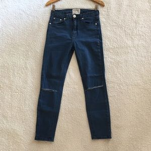 one teaspoon dixie high waist slit skinny jeans